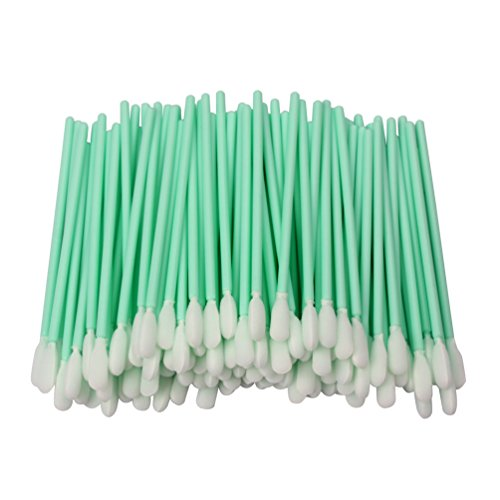 "LOVEDAY 3.7"" 100pcs Small Foam Tip Cleaning Swabs Sponge Stick for Inkjet Printer Optical Lens Automotive Detailing"