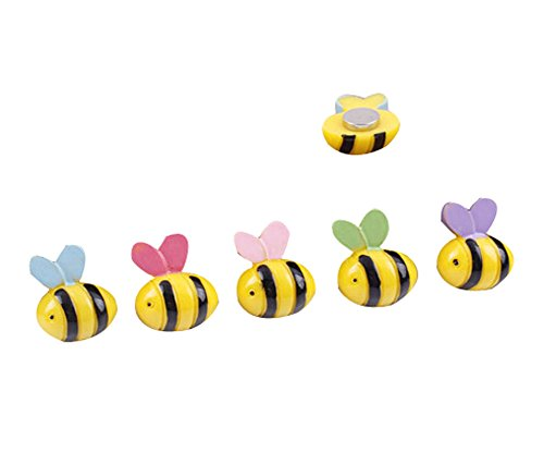 Bee Magnet (Set of 10 Creative Resin Refrigerator Magnets, Bees)