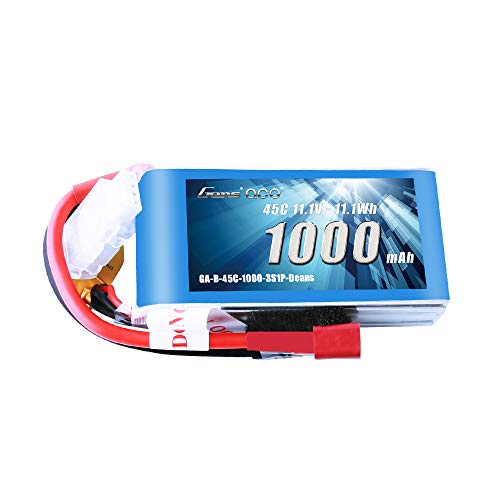 Gens ace 11.1V 1000mAh 3S 45C LiPo Battery Pack with Deans Plug for RC Plane Car Boat Truck Heli Airplane