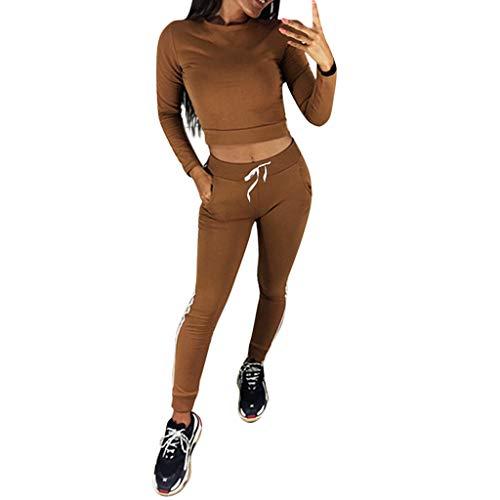 LISTHA Sportswear Outfits Women Crewneck Sweatshirt Sport Pullove Pants Set Suit ()