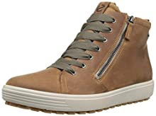 ECCO Women's Soft 7 TRED Gore-TEX High Sneaker, Cashmere, 36 M EU (5-5.5 US)