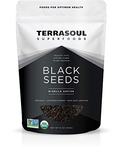 Terrasoul Superfoods Organic Black Cumin Seeds (Nigella Sativa), 1 Pound