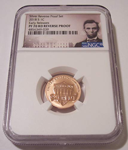 2018 S Lincoln Shield Reverse Proof Early Releases Cent PF70 NGC Portrait Label