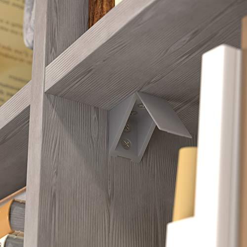 2-Loch Farbe : Silber Sossai/® BT1 Material : Kunststoff 40 x Korpusverbinder//M/öbelverbinder//Eckverbinder mit Abdeckklappe