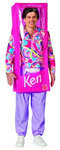 Barbie Ken Halloween (Rasta Imposta Ken Doll Box Costume, Men's Adult, One Size)