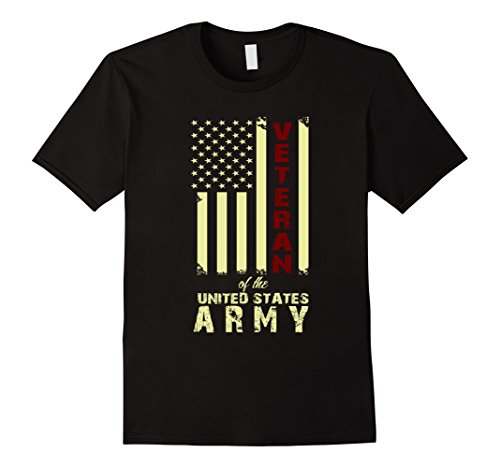 Men's Veteran Of The United States Army. Funny Gift For Veteran. XL Black