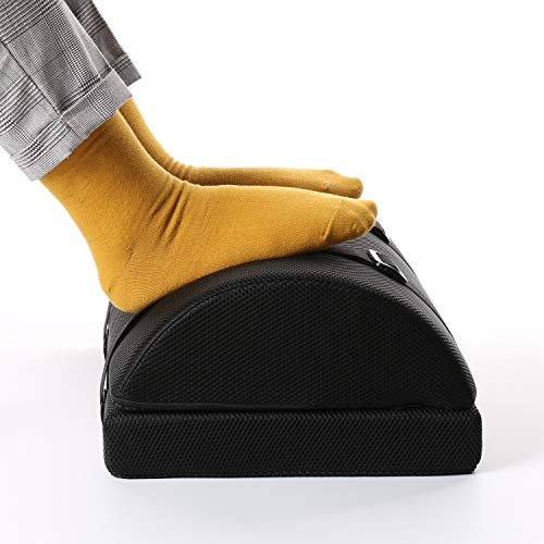 Nekmit Adjustable Foot Rest Non-Slip Ergonomic Multifunctional Firm Foam Half-Cylinder for Home and...