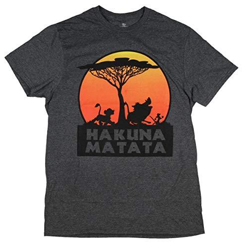 a889af0a Amazon.com: Disney The Lion King Hakuna Matata Tree Silhouette Orange  Sunset Men's T-Shirt: Clothing