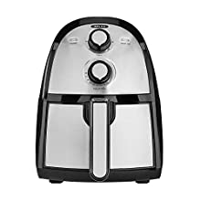 BELLA (14752) 2.6 Quart Electric Hot Air Fryer with Removable Dishwasher Safe Basket, Stainless Steel