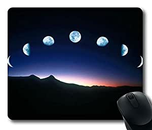 The Shape Change of the Moon Rectangle mouse pad Your Perfect Choice