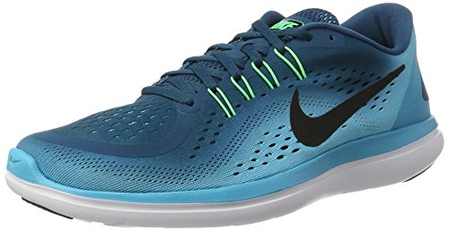 0278681ec1ff Galleon - Nike Men s Flex 2017 RN Legion Blue   Black - Chlorine Blue 898457 -400 (9.5)
