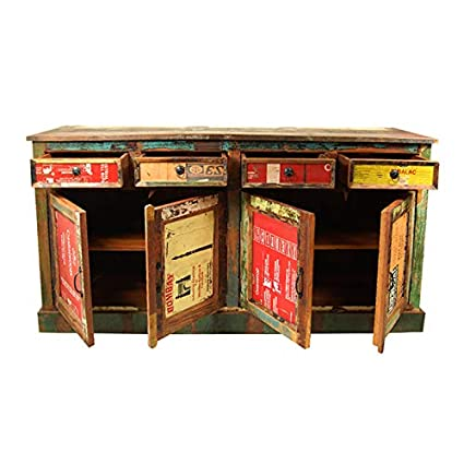 The Attic French Style Reclaimed KL-284 Sideboard (Matt Finish, Recycled Wood)