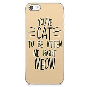 iPhone SE Transparent Edge Phone case Cat Phone Case Meow Phone Case Kitten iPhone SE Cover with Transparent Frame