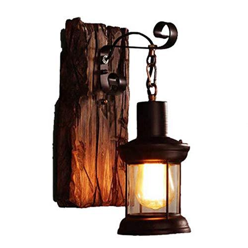 Vintage Wall Lamp,E27 Woody Chandelier Bar Dining Room Bedroom Pendant Lighting