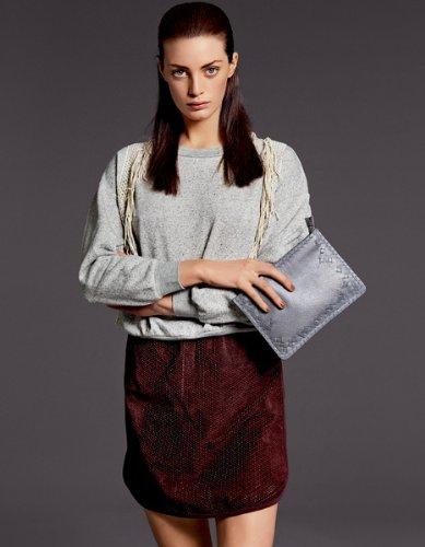 Selected - Jersey con bordados de manga larga para mujer Gris claro melange