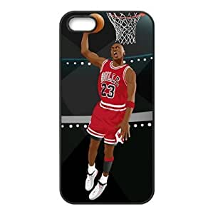 Chicago Bulls Michael Jordan Image Theme Back TPU Case for iPhone 5/5s-by Allthingsbasketball