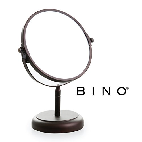 41PJze3WRxL - BINO 'The Classic' 6.5-Inch Double-Sided Mirror with 3x Magnification, Bronze