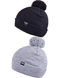 Winter Beanie with Cute Pom Pom for Men Women Soft Bobble Hat Knit Skull Caps