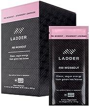 LADDER Paquetes de polvo para preentrenamiento deportivo, suplemento de energía limpia, 100 mg de cafeína con
