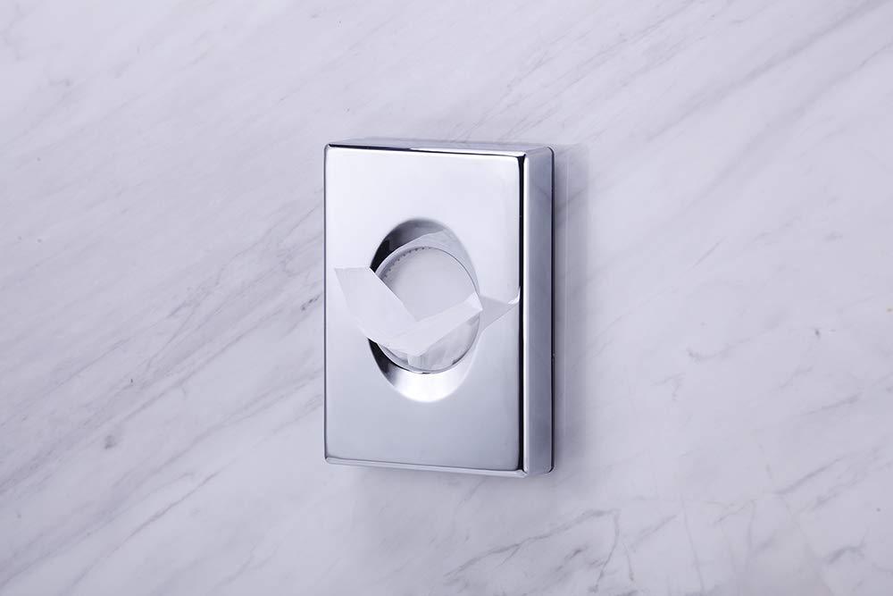 Hygiene bag dispenser ABS White for Ladies Restroom Hotel Guest Bathroom Hospital Feminine Care Wall Mounted