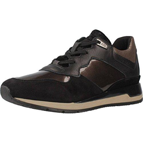 Zapatillas D Negro para Shahira Geox A Mujer FtwqS10