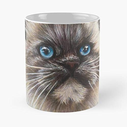Conjure Fine Art Himalayan Cat - Coffee Mugs Unique Ceramic Novelty Cup For Holiday Days 11 Oz. ()