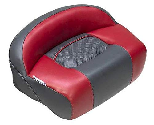 DeckMate Lean Pro Fishing Seat (Charcoal and Red)