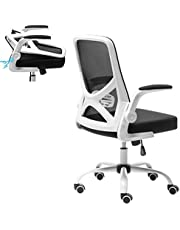 Flamrose Mid Back Mesh Chair, Integrated Adjustable Armrest and Back, Ergonomic Office Chair, Home Desk Chair, Computer Chairs