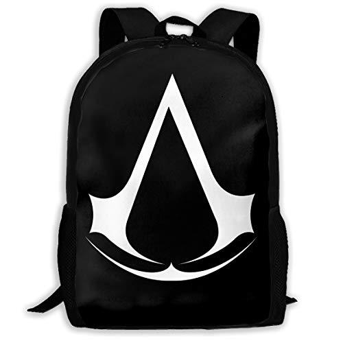 Assassin's Creed Suit (Assassin Creed Video Game Unisex Backpack Shoulder Bag School Backpack Travel Bags Laptop)