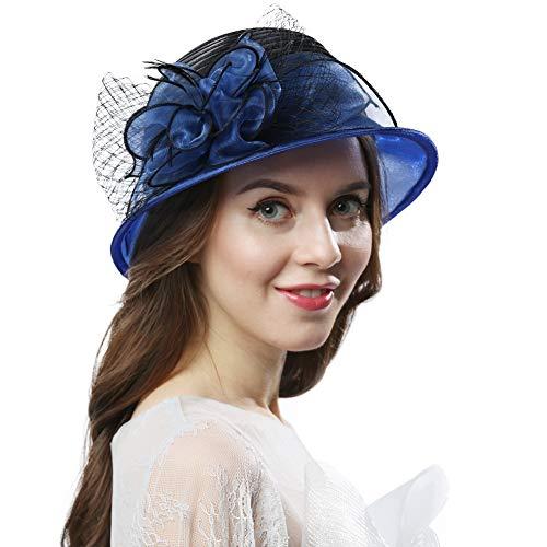 Original One Women's Cloche Bowler Hats KDC1721 For Kentucky Derby Day, Church, Wedding, Tea Party, Ascots -
