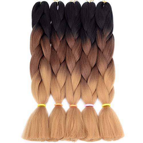 VCKOVCKO Jumbo Braiding Hair Synthetic Kanekalon Jumbo Braids Hair Extensions Kanekalon Fiber Braiding Hair for Twist 24
