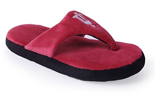 NCAA Happy and Hoosiers Womens Mens Feet College Comfy OFFICIALLY Flop Indiana LICENSED wZrxnHO6wq