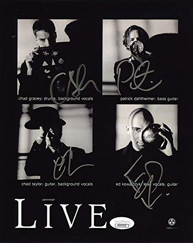 Photo 8x10 Autographed Band - LIVE Band Group Signed Autographed 8x10 Photo JSA Certified Authentic COA Signed by: Chad Gracey, Patrick Dahlheimer, Chad Taylor and Ed Kowalczyk