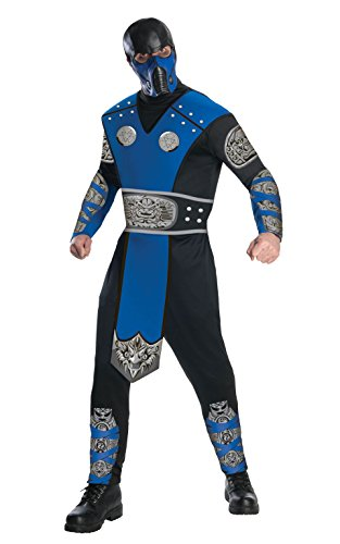 Sub-zero Costume (Mortal Kombat Adult Sub-Zero Costume And Mask, Blue/Black, Large)