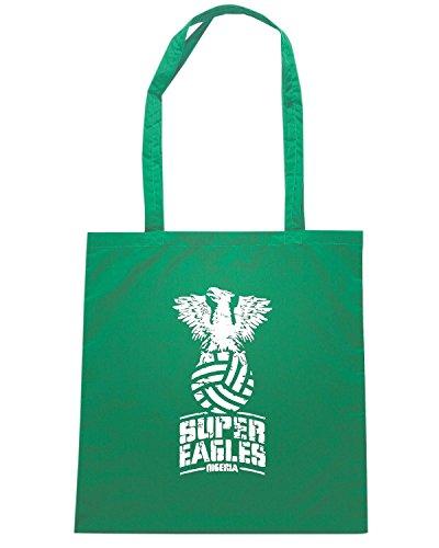 T-Shirtshock - Bolsa para la compra WC0519 NIGERIA T-SHIRT - SUPER EAGLES Verde