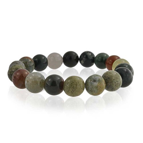 Bling Jewelry Multi Color Simulated Fancy Jasper Bead Stretch Bracelet