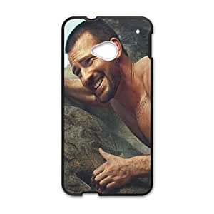 HTC One M7 Cell Phone Case Black Chris Evans Rock Climbing Star BNY_6795985