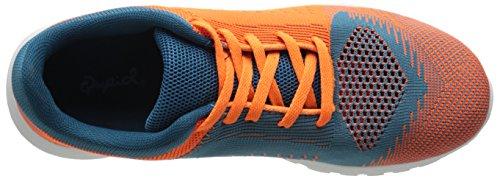 Moda Donna Romeo-01 Sneaker Arancione / Verde Acqua