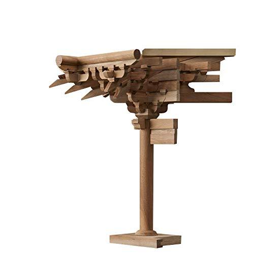 Warp United Dougong - Juego de soporte de esquina para pilar de esquina (madera), diseño de arquitectura clásica china de Buguang Temple Tang Dynasty ca. 700 d.C.: Amazon.es: Industria, empresas y ciencia