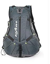 TOFINE Mountain Biking Backpack Street Bike Backpacker Gear with Hydration Pack Rain Cover Grey 27L