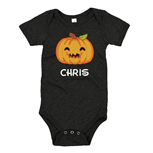 Halloween Pumpkin Chris Outfit: Infant Triblend Bodysuit