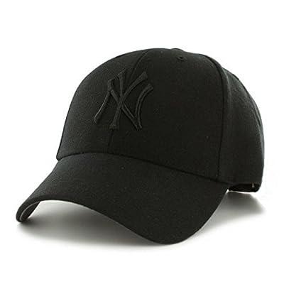 47 Brand New York Yankees MVP Hat Cap MLB Black/Black