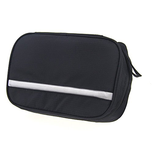 Casmas Travel Toiletry Bag Travel Accessories Bag Cosmetic Organizers with Hanging Hook Use in Bathroom or Hotel (Black) by Casmas (Image #6)
