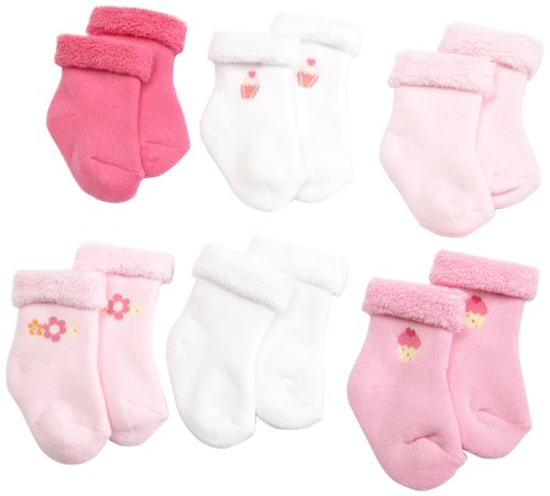 Gerber Baby-Girls Newborn 6 Pack Variety Cozy Designer Socks