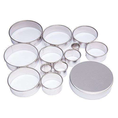 Tebery 12 Piece Plain Edge Biscuit Cutter Set