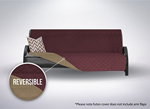The Original SOFA SHIELD Reversible Furniture Protector, Features Elastic Strap (Futon: Burgundy/Tan)