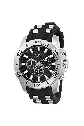 Invicta Men s Pro Diver Stainless Steel Quartz Watch with Silicone Strap, Black, 26 Model 22555