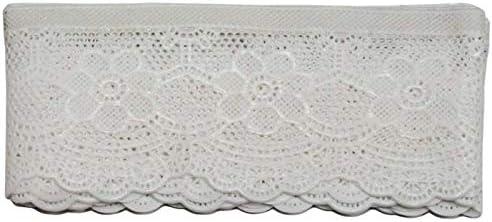 Acan Cenefa Decorativa de puntilla Adhesiva con Bordados Blancos 5 x 150 cm: Amazon.es: Hogar