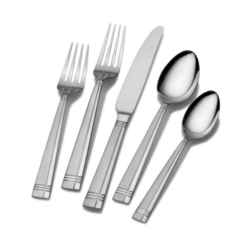 (Pfaltzgraff 5112363 Dawson Frost 20-Piece Stainless Steel Flatware Set, Service for 4)