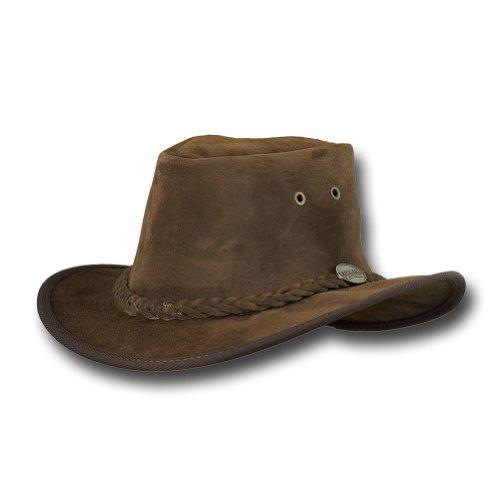 Barmah Hats Adventurer Fedora Leather Hat - 1095BL / 1095HI / 1095RB / 1095LM (XLarge, Royal Brown)